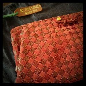 Bottega Veneta vintage maroon clutch